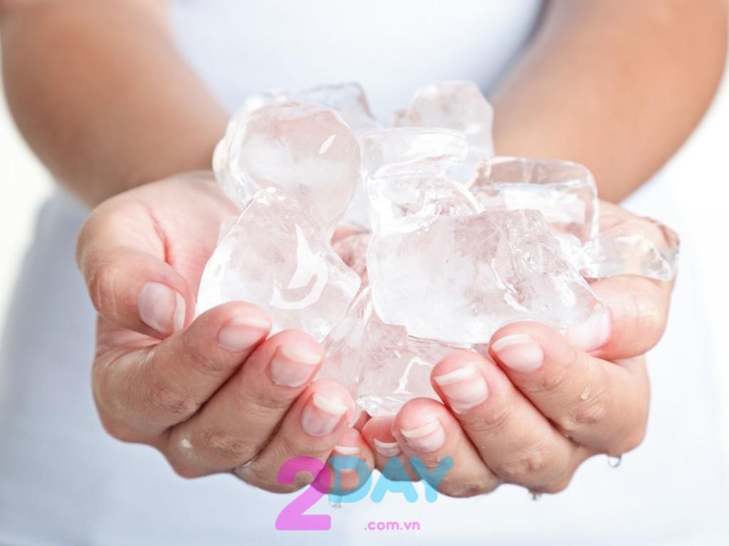 giảm mỡ bụng bằng nước đá