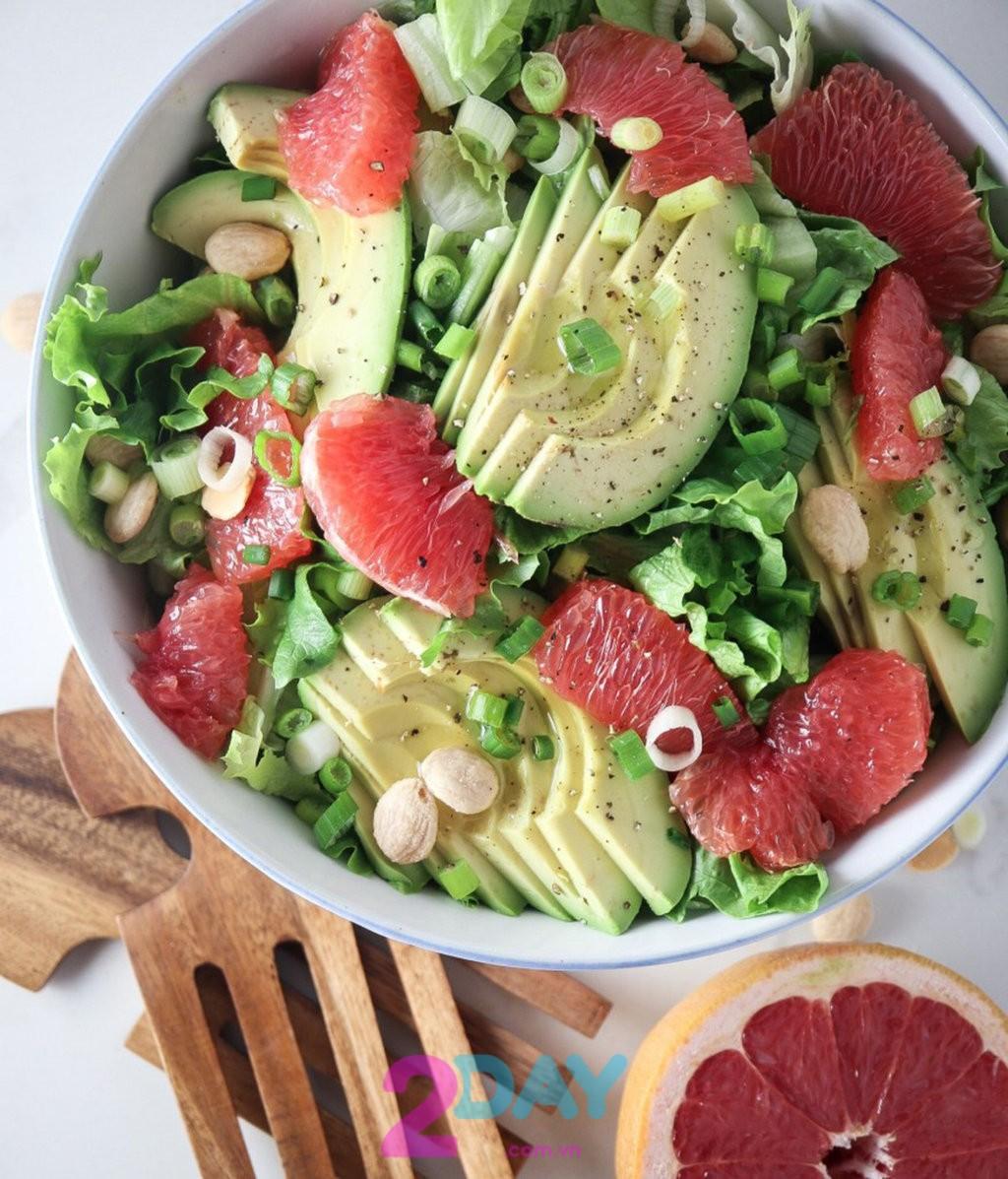 Công thức salad giúp giảm cân nhanh chóng cùng bưởi và bơ